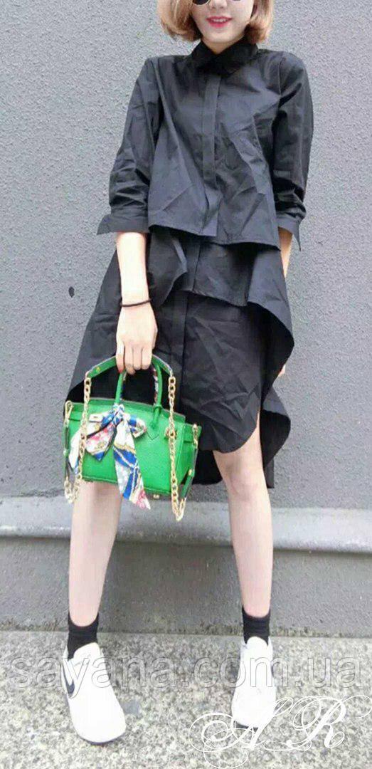 Женское пышное платье - рубашка, в расцветках. АР-2-0318