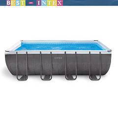 Intex 26356/26352/28352 (549х274х132 см.) + песочный насос. Каркасный бассейн Rectangular Ultra Frame Pool