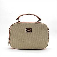 Прелестная женская сумочка DAVID DJONES розово-бежевого цвета YVP-084005, фото 1