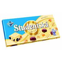 Шоколад Studentska Pecet белый с арахисом и изюмом