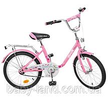 Велосипед дитячий двоколісний 20 дюймів Flower PROFI L2081
