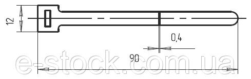Полоска-пряжка К396