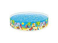 Бассейн детский каркасный Intex 58457 «Пляжные друзья», 244 х 46 см