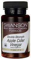 Яблочный уксус, Swanson, 200 мг, 30 таблеток