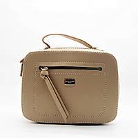 Женская сумочка DAVID DJONES бежевого цвета LLP-100009 (реплика), фото 1