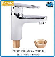 Смеситель для умывальника Potato P10201