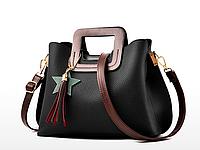 Женская сумка классическая деловая черная Star