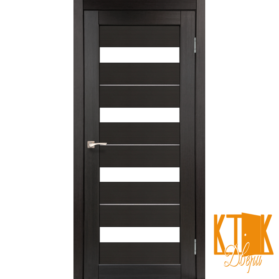 "Межкомнатная дверь коллекции ""Porto deluxe"" PD-02 (венге)"