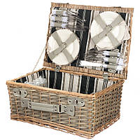 Корзина, набор для пикника из лозы на 6 персон 014PPN