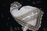 """Крижма для хрещення """"Лоза"""" з капюшоном, фото 5"""