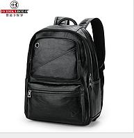 Мужской рюкзак кожаный Feidika Bolo Style черный