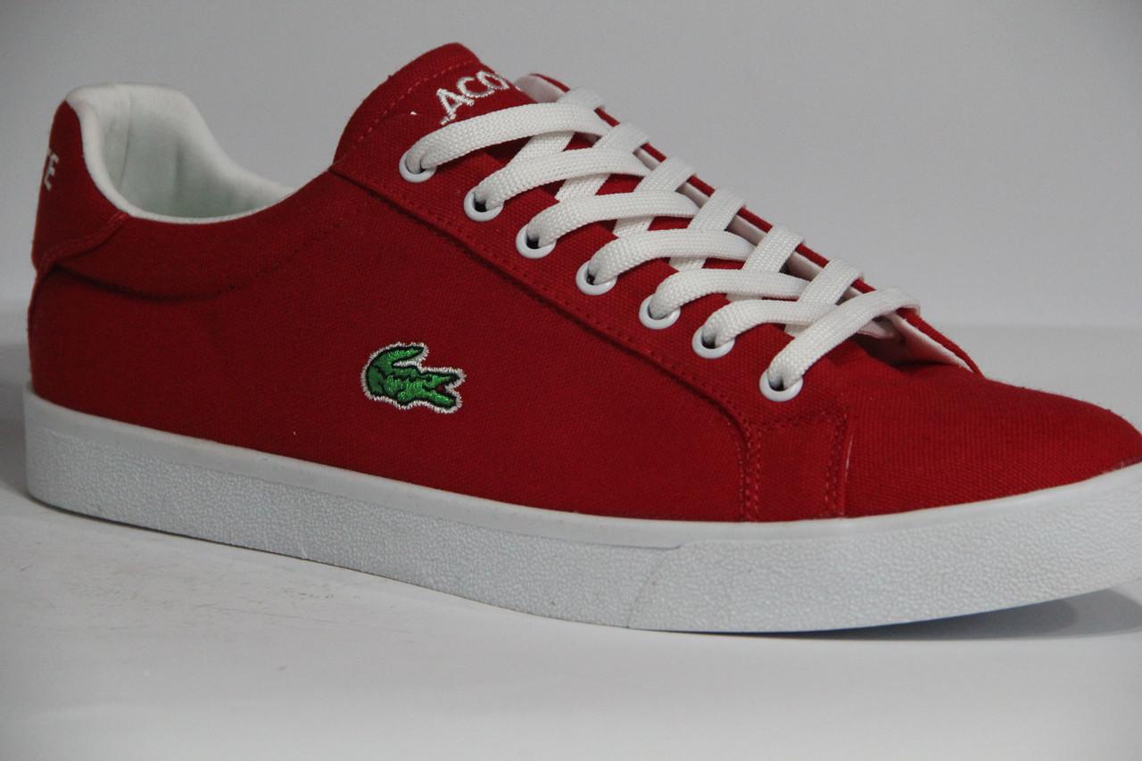 Мужские красные кеды Lacoste - Top Shoes в Одессе 9f0bcd4bb001d