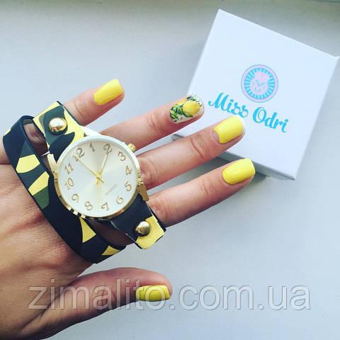 Часы Миллитари желтые