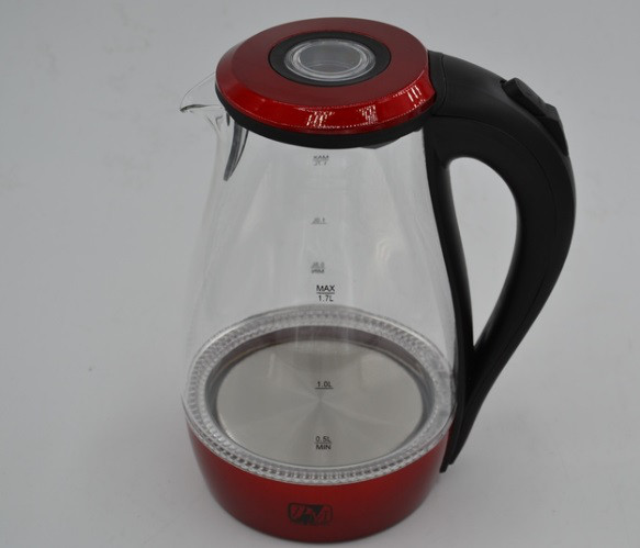 Скляний електрочайник з LED-підсвічуванням Promotec PM826 на 1,7 літра