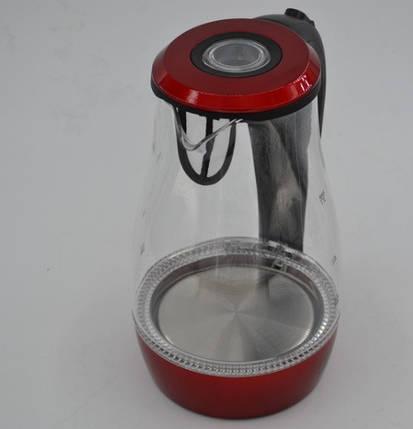 Скляний електрочайник з LED-підсвічуванням Promotec PM826 на 1,7 літра, фото 2