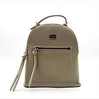 Удобная женская сумка-рюкзак DAVID DJONES из искусственной кожи бежевого цвета DQQ-855591, фото 1
