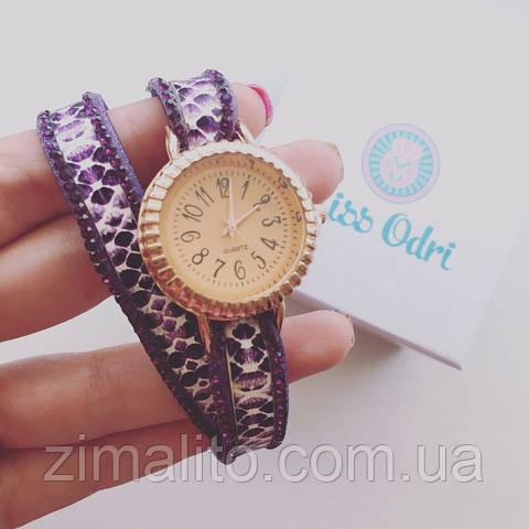 Часы питон фиолет