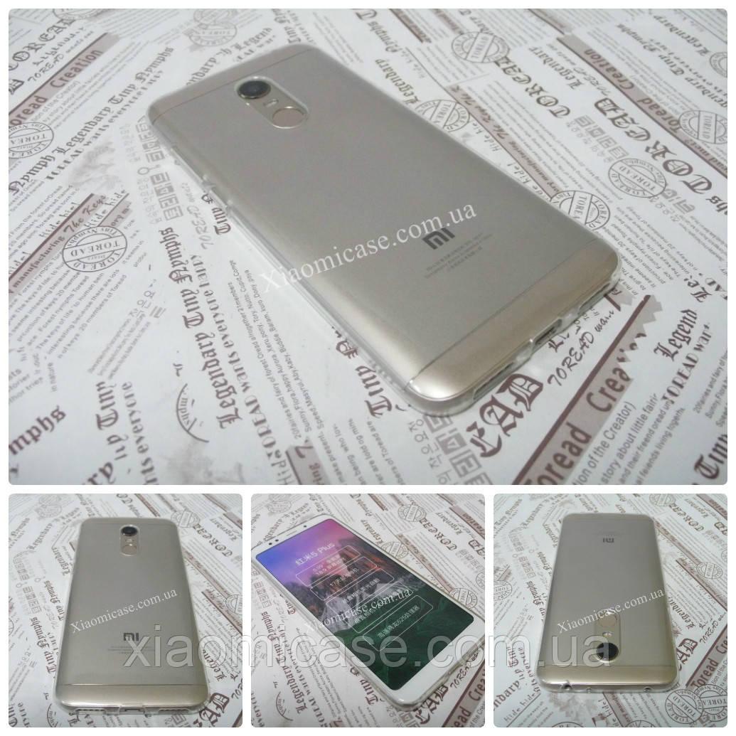 Ультратонкий чехол для Xiaomi (Ксиоми) Redmi 5 Plus прозрачный