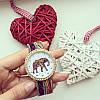 Часы слоники розовые