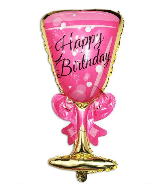 Фольгированный шар Бокал розовый 92*48 см