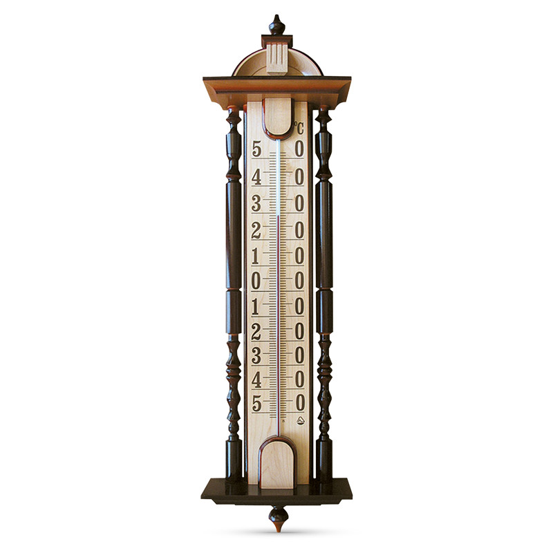 """ТФ-2 """"Садиба """"фасадний термометр (ручна робота, дерево)"""