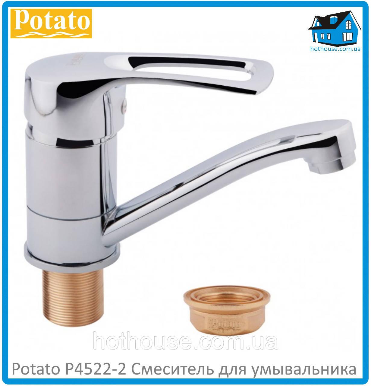 Смеситель для умывальника Potato P4522-2