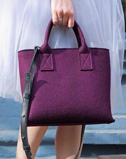 """Жіноча сумка з фетру """"Lady5""""ручної роботи"""