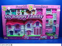 Кукольный дом 8032 с куклами, мебелью батар.муз.свет.кор.73*7*44 ш.к./10/(8032)