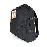 Тактический, армейский крепкий рюкзак 30 литров чёрный. Армия, спорт, туризм, рыбалка, охота.