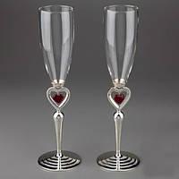 Свадебные бокалы Пылающие сердца
