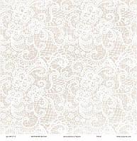 """Дизайнерская бумагаКружево, размер 30х30 см,""""Мереживо весни"""" ЕК"""