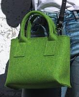 """Жіноча сумка з фетру """"Lady6"""" сумка ручної роботи від української майстерні PalMar, сумка с войлока, фото 1"""
