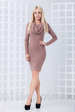 Ангоровое платье по фигуре с большим отворотом (Гленна mrb), фото 2