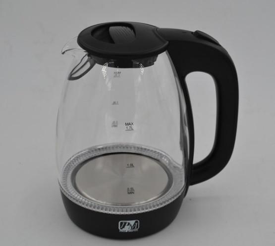 Стеклянный электрочайник с LED-подсветкой Promotec PM824на 1,7литра