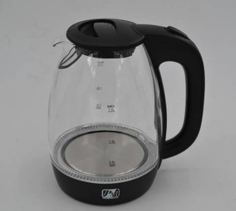 Стеклянный электрочайник с LED-подсветкой Promotec PM824на 1,7литра, фото 2