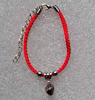Красная нить оберег натуральный камень Чароит 9 мм