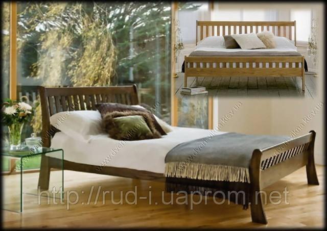 """Кровать в эко стиле """"Италия""""двуспальная"""