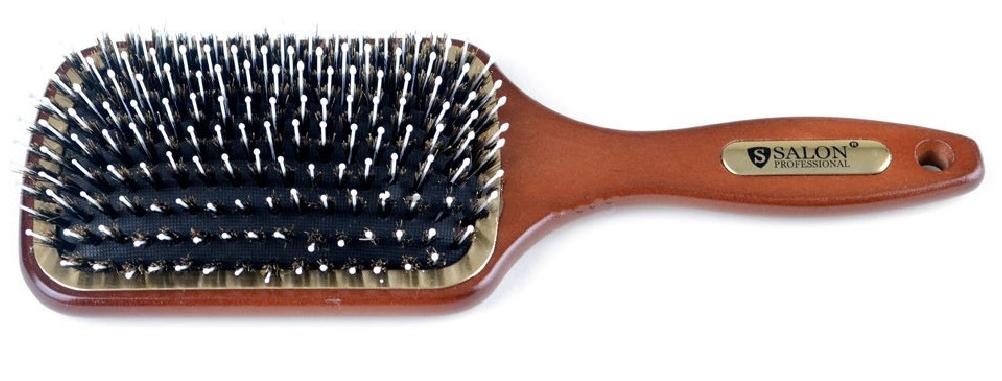 Щетка для волос массажная со щетиной большая прямоугольной формы