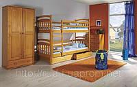 """Детская двухъярусная кровать с ящиками для белья """"Соня"""""""