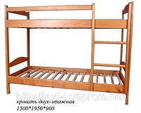 Двухъярусная кровать с боковой лестницей