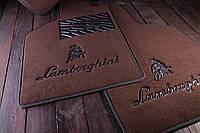 Автомобильные текстильные коврики для салона Porsche Cayenne 2010-2017 коричневый Premium Discovery