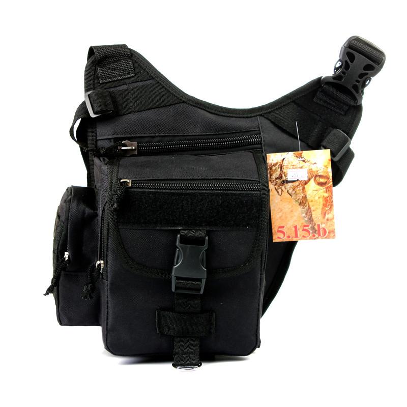 Тактическая сумка, барсетка плечевая черный 257/1