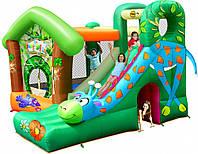 Детский надувная горка батут HAPPY-HOP с горкой Веселый Жираф 9139
