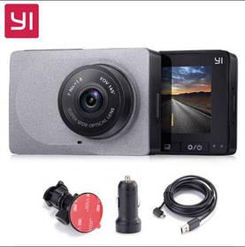 Видеорегистратор Xiaomi Yi Car DVR 1080р WiFi угол 165,ОРИГИНАЛ серый