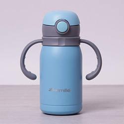 Детский термос с поилкой Kamille 300 мл из нержавеющей стали с трубочкой, термос для ребенка, термочашка