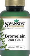 Бромелайн (ананас) для похудения США, Swanson, 100 таблеток