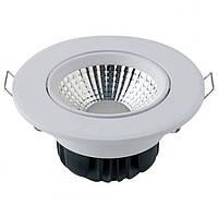 Врезной поворотный LED светильник HOROZ 5W 6400K белый