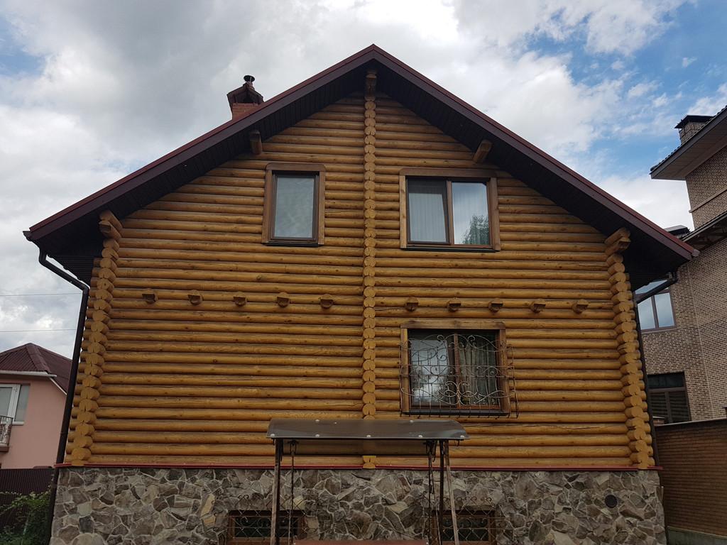 Реставрация  и отделка фасада и герметизация сруба 2 дома