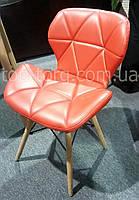 Стул DS-926 AXEL красный, деревянные ножки