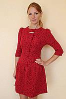 Платье кружевное с бусинами 42-48 р